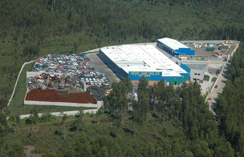 vista aérea da empresa